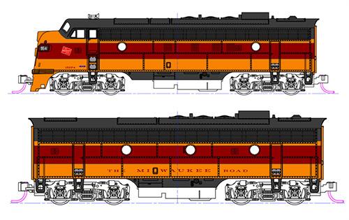 FP7A+F7B ミルウォーキーロード 2両セット 【KATO・10-755-2】「鉄道模型 Nゲージ カトー」