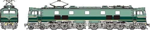 国鉄EF58小窓 試験塗装(濃淡グリーン) 【トラムウェイ・TW-EF58A】「鉄道模型 HOゲージ ディーゼル機関車」