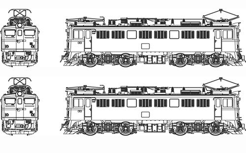 ED71-第2次量産形(二両セット) 【トラムウェイ・TW-ED71-2W】「鉄道模型 HOゲージ ディーゼル機関車」
