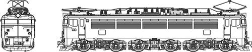 ※新製品 12月発売※EF70-第1次形(前灯一灯) 【トラムウェイ・TW-EF70F003-1】「鉄道模型 HOゲージ ディーゼル機関車」
