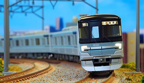 東京メトロ13000系(日比谷線・第5編成) 7両編成セット(動力付き) 【グリーンマックス・30742】「鉄道模型 Nゲージ GREENMAX」