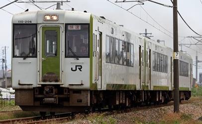 JRキハ110形(200番代・前期形・快速べにばな)2両編成セット(動力付き)【グリーンマックス・30766】「鉄道模型 Nゲージ GREENMAX」