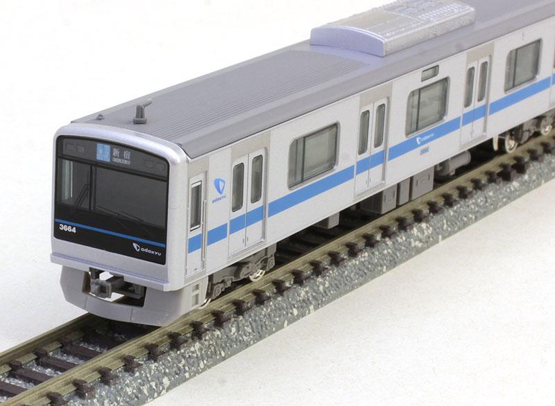 小田急3000形 7次車 ブランドマーク付き 8両編成セット(動力付き)【グリーンマックス・4584】「鉄道模型 Nゲージ GREENMAX」