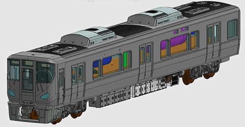 車載カメラシステムセット(225-0系) (3両)【TOMIX・5595T】「鉄道模型 Nゲージ トミックス」