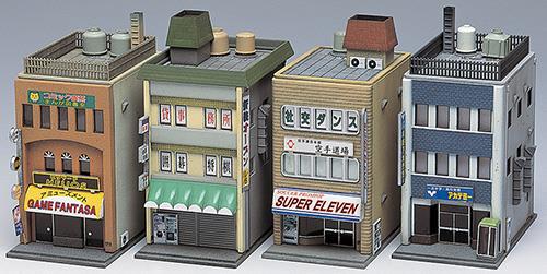 商業ビル 3F(4棟入り)【グリーンマックス・2157G】「鉄道模型 Nゲージ GREENMAX」
