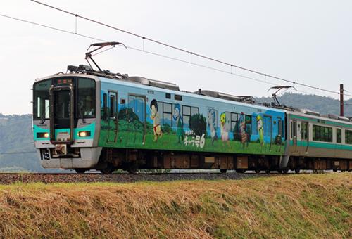 JR125系(小浜線・おばませんキャラ号6)2両編成セット(動力付き)【グリーンマックス・50605】「鉄道模型 Nゲージ」