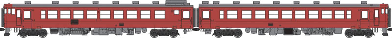 国鉄キハ48首都圏色-0番代動力付 1000番代動力なしセット【トラムウェイ・TW48-0R-MTS】「鉄道模型 HOゲージ」