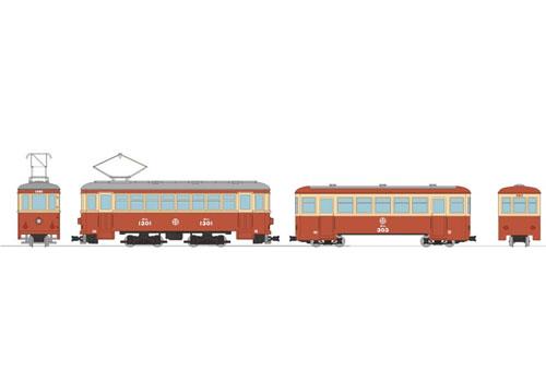※新製品 2月発売※鉄道コレクション ナローゲージ80 猫屋線直通用路面電車+客車セット【トミーテック・303350】「鉄道模型 HOゲージ」