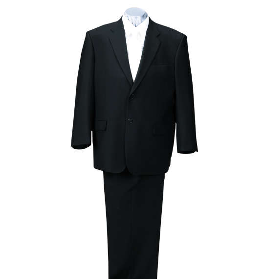 【送料無料】 大きいサイズ メンズ 2ツ釦礼服 (ブラック) (3L 4L 5L 6L 7L 8L)