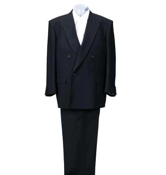 【送料無料】 大きいサイズ メンズ 4ツ釦1ツ掛礼服 (ブラック) (3L 4L 5L 6L 7L 8L) 【あす楽】