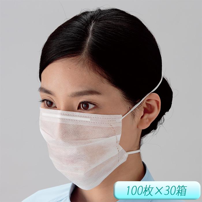 衛生マスク K-114 (オーバーヘッド) ミドリ安全 3000枚 [食品工場 清潔 異物混入防止 ウィルス対策 花粉予防]