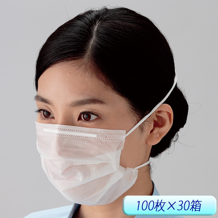 ミドリクリーンマスク K-210SPN オーバーヘッド式 ミドリ安全100枚/箱 [食品工場 清潔 異物混入防止 ウィルス対策 花粉予防]