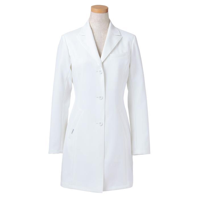 長袖ドクタージャケット ヤギコーポレーション メディカルウェア [リゼルヴァ RISERVA] R2440 レディス ホワイト (S~4L) 医療 制服 ユニフォーム 女性用 上衣 仕事着