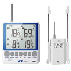 熱中対策 エー・アンド・デイ A&D 熱中対策 マルチチャンネル温湿度計 AD-5663 デジタル [温度計 湿度計 指数計][暑さ対策 夏用]