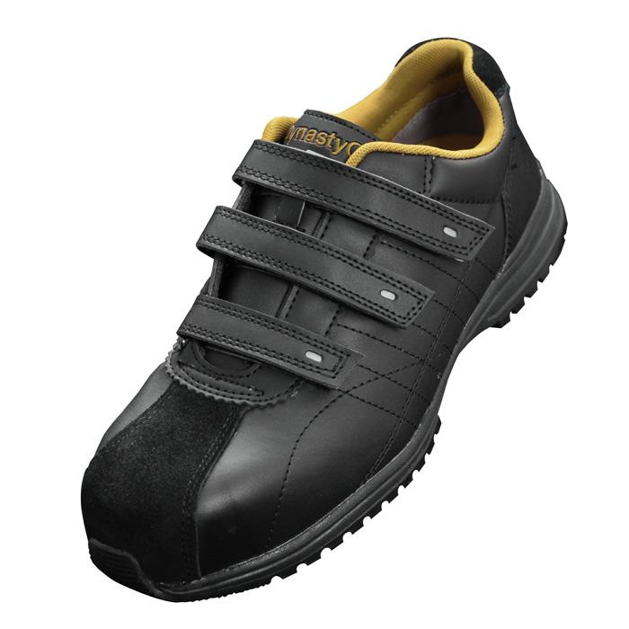 【大きいサイズ】安全作業靴 [ドンケル] スリップサイン付 JSAA A種認定 樹脂先芯 DynastyGrip ダイナスティグリップ DG-22M (マジック) 大サイズ ブラック