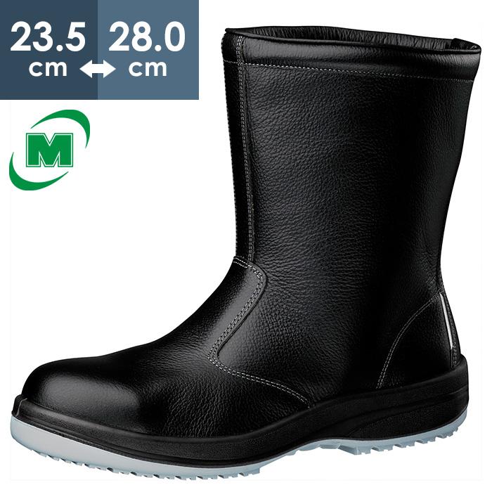 半長靴 静電安全靴 ミドリ安全 超耐滑底 安全靴 半長靴 ハイグリップ HGS340N 静電 [静電靴 静電安全靴 静電気防止 静電気除去 帯電防止] ブラック
