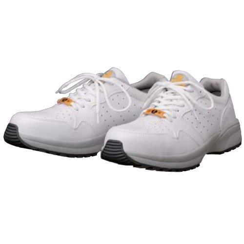 静電気帯電防止靴 [ドンケル] ひも スニーカー ハイテク樹脂先芯 耐滑性能 ダイナスティ SD-11 [静電靴 静電安全靴 静電気防止 静電気除去 帯電防止] ホワイト
