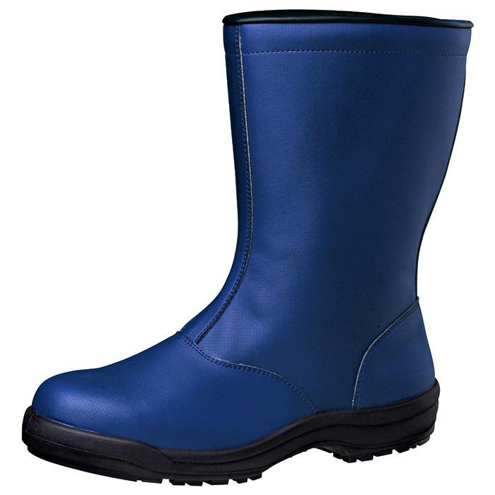 【大きいサイズ】ミドリ安全 寒冷地用 安全靴 [ワラグリップ] SG240 冬の定番靴 【凍った路面で滑りにくい、氷をつかむ安全靴】《ボア内装》 メンズ 冷蔵庫内作業用 スノーブーツ 冬靴 防寒 ネイビー 29.0cm