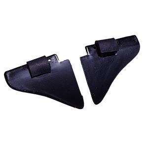 自由に装着したり取り外したりできるサイドシールド ミドリ安全 返品送料無料 保護メガネ 返品交換不可 サイドシールド 側板 ブラック MZ-15 2個 オプション 組