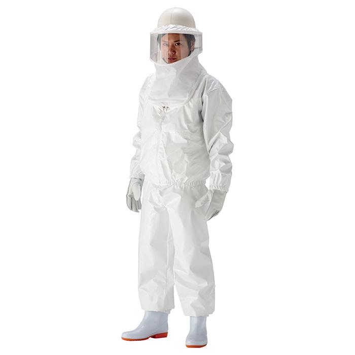 蜂防護服 [高滑加工生地でハチを滑らせ寄せ付けない] 特殊コーティング素材 蜂の巣駆除 ハチブロック