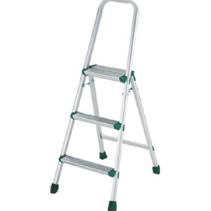トラスコ中山 TRUSCO 工事用品 はしご・脚立 作業用踏台 アルミ上枠付踏台 3段(軽作業用・脚カバー付) TAU3
