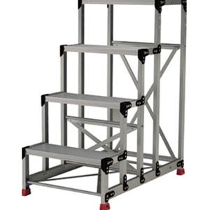 トラスコ中山 TRUSCO 工事用品 はしご・脚立 作業用踏台 アルミ合金製作業台5段 TSF51015