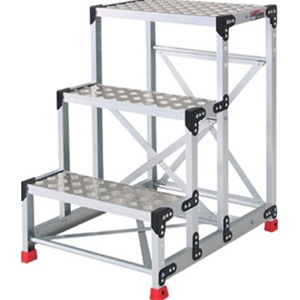 トラスコ中山 TRUSCO 工事用品 はしご・脚立 作業用踏台 アルミ合金製作業台 縞鋼板 600X400X900 TSFC369