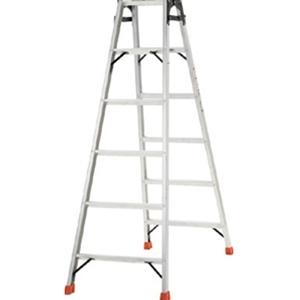 トラスコ中山 TRUSCO 工事用品 はしご・脚立 脚立 アルミ合金製はしご兼用脚立高さ1.11m THK120