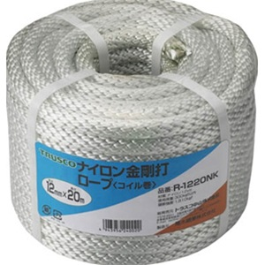 トラスコ中山 TRUSCO 作業用品 梱包結束用品 ロープ ナイロン金剛打ロープ12×30mコイル巻 R1230NK