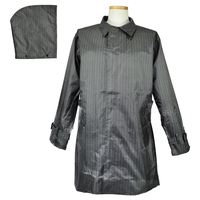 レインウェア 雨衣 [コヤナギ] レインコート かっぱ 合羽 防水レインウェア #705 ヘリンボーンコート ポリエステル グレー [梅雨 通勤 自転車 おすすめ] 作業用