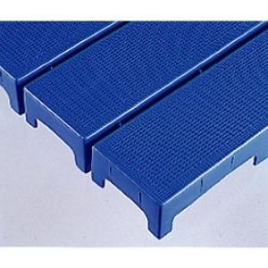 清掃用品 マット ブロックスノコ 876-66 青 ポリプロピレン 297×444×50mm