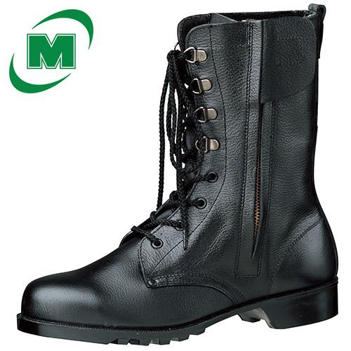 信憑 伝統という名の安心感 安全靴のスタンダード セーフティーブーツ 安全靴 ミドリ安全 鋼製先芯 ラバー1層底 新着セール ゴム底 ブラック 日本製 チャック 長編上靴 V2133N