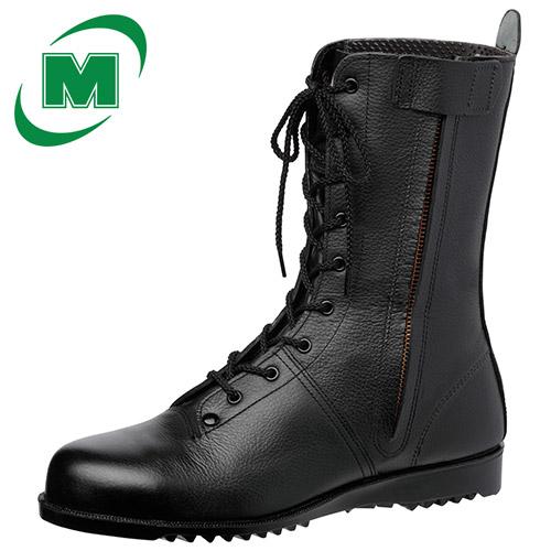 高所作業用作業靴 ミドリ安全 VS5311NXF オールハトメ ブラック 23.5~27.0・28.0(EEE) 作業靴 日本製