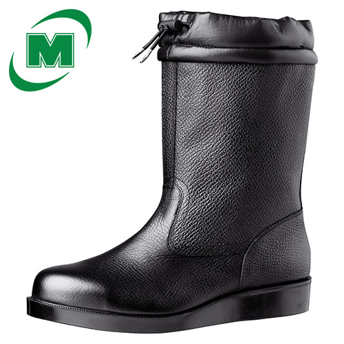 【大きいサイズ】舗装工事用安全靴 半長靴 ミドリ安全 VR240 フード ブラック 29.0・30.0(EEE) 日本製