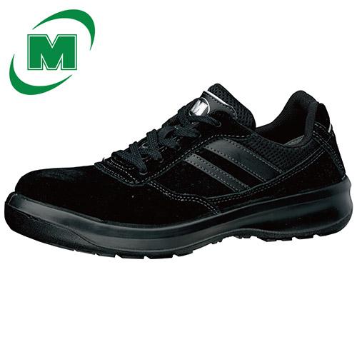 安全靴 ミドリ安全 男女兼用 ワイド樹脂先芯 安全靴 スニーカー ひも G3550 ブラック 日本製