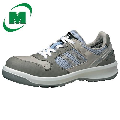 安全靴 ミドリ安全 男女兼用 ワイド樹脂先芯 メッシュ 安全靴 スニーカー ひも G3690 グレイ [作業靴:蒸れない・通気性が良い・涼しい・快適] 日本製