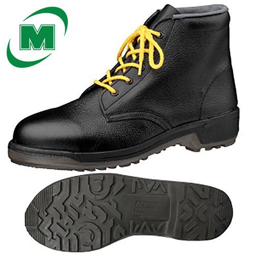 【23.5~28.0】安全靴 ミドリ安全 MZ020J静電 ブラック[静電 耐滑 軽量 中編み上げ] 日本製