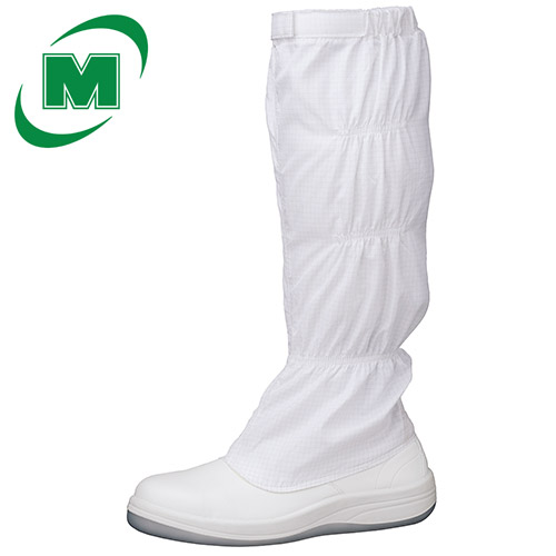 静電安全靴 ミドリ安全 ワイド樹脂先芯 《クリーンエリア用フットウェア》 《JIS T8103 S種》 SCR1200 フードランタン [静電靴 静電安全靴 静電気防止 静電気除去 帯電防止] ホワイト 日本製