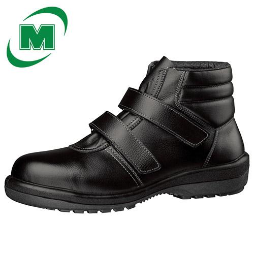 安全靴 ミドリ安全 新ラバー2層底 安全靴 中編上靴 ラバーテック RT725 ブラック 日本製