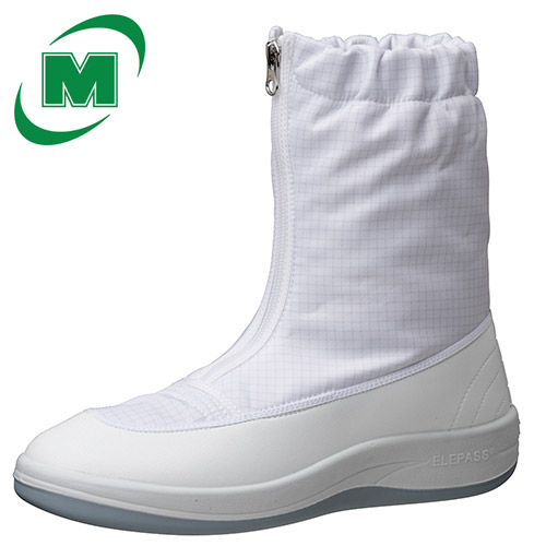 静電作業靴 ミドリ安全 男女兼用 《クリーンエリア用フットウェア》 《JIS:T8103》 メンズ対応可 エレパス クリーンブーツ SU551 [静電靴 静電気防止 静電気除去 帯電防止] ホワイト 日本製