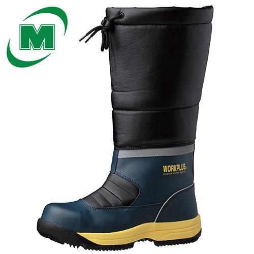 簡易防水仕様 寒冷地用 安全長靴 ミドリ安全 ワークプラス JSAA 先芯入りブーツ MPS-140 フード【雪がつまりにくく、滑りにくい/雪上用ソール】 スノーシューズ・スノーブーツ・冬靴・雪靴・ウィンターブーツ