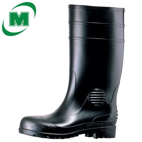 安全長靴 先芯入り ミドリ安全 先芯入り W1000 ブラック 日本製
