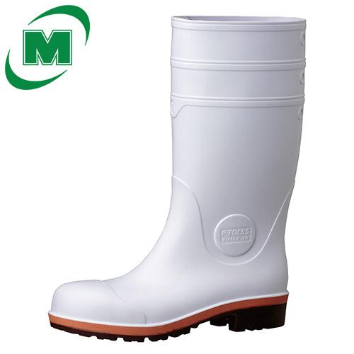 【大きいサイズ】安全長靴 ミドリ安全 【小指まで守れる業界初の先芯。小指側面を覆うような形状になっており、側面からの衝撃から小指を守ります。 耐薬靴底】プロテクトウズ5 PW1000スーパー ホワイト 大 日本製