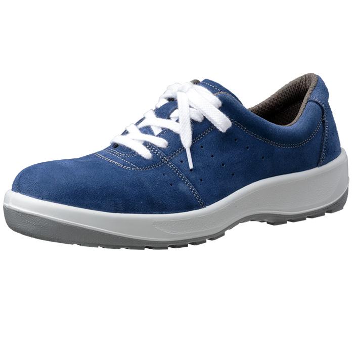 安全靴 スニーカー ミドリ安全 【JIS規格】 男女兼用 安全靴 MSN350紐(ひもタイプ) ブルー 23.5~28.0cm(EEE)