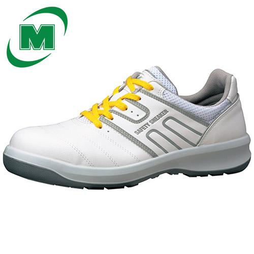 【大きいサイズ】静電安全靴 スニーカー ミドリ安全 男女兼用 レザースニーカー 安全作業靴 ワイド樹脂先芯 G3590静電( 紐タイプ) [静電靴 静電安全靴 静電気防止 静電気除去 帯電防止] ホワイト