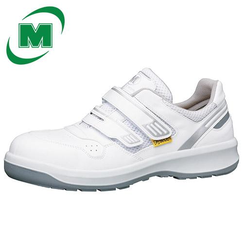 【大きいサイズ】安全作業靴 メッシュ ミドリ安全 男女兼用 安全靴 G3695 静電 《JIS:T8103準拠》 マジックタイプ ホワイト 大サイズ ワイド樹脂先芯 [静電靴 静電安全靴 静電気防止 静電気除去 帯電防止] [作業靴:蒸れない・通気性が良い・涼しい・快適]