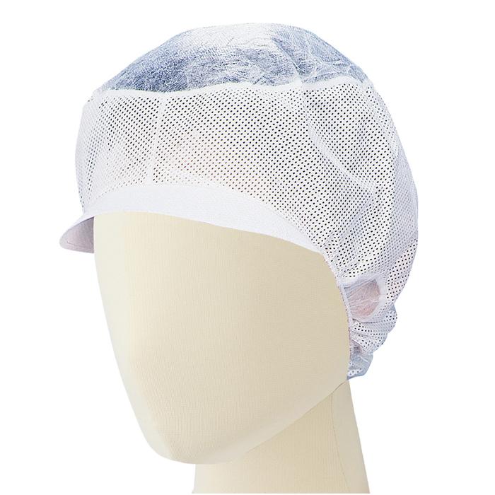 インナーネット 【200枚】 東京メディカル [ヘアーネット 衛生帽子] でんでん帽 (ツバ付き) CA-104 50枚×4箱入 食品工場 衛生