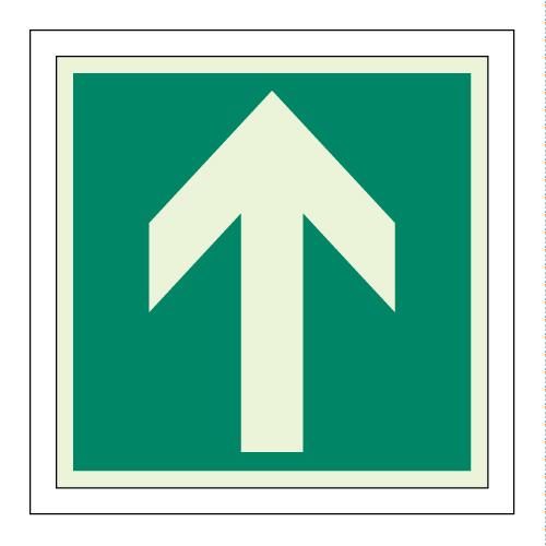 避難口誘導標識 [ユニット] 避難誘導ステッカー 矢印 824-15 床面貼用