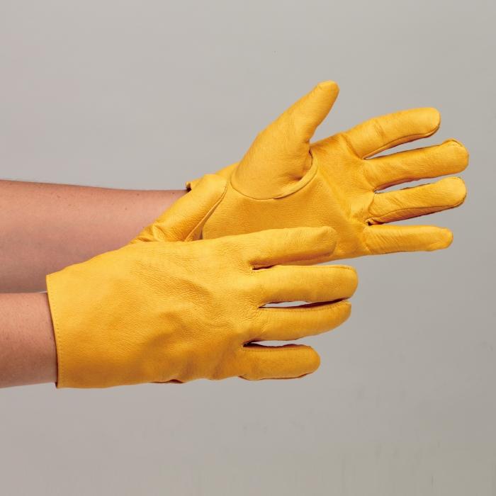 革手袋 12双入 ミドリ安全 【良質の豚表革を使用】 グローブ 作業手袋 作業用手袋 MT-14 豚 黄 12双入 長さ23cm