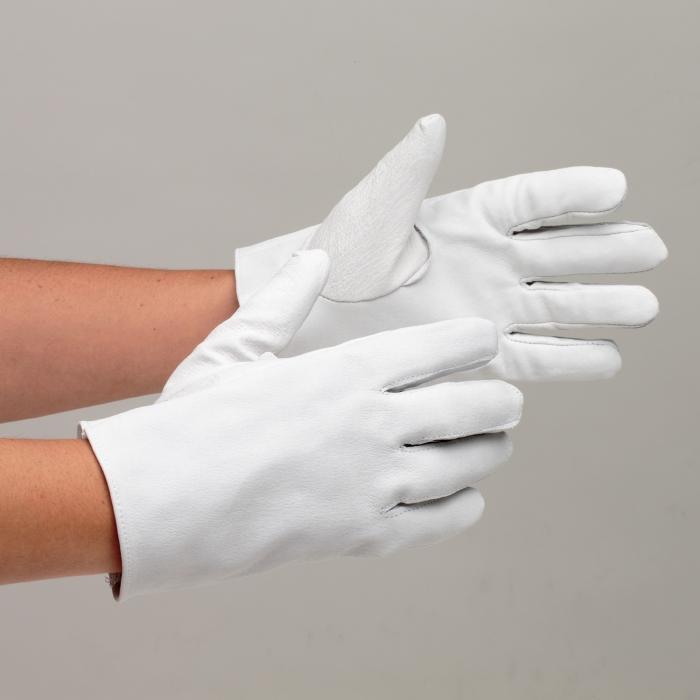 革手袋 12双入 ミドリ安全 【ハイグレードな牛表革を使用】 グローブ 作業手袋 作業用手袋 MT-14 豚 白 12双入 長さ23cm